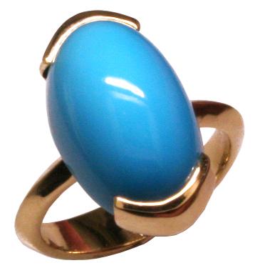 14k Turquoise Art Deco ring