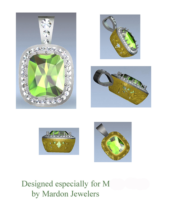 CAD design rendering for client
