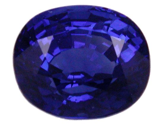 slightly violetish blue Burma sapphire