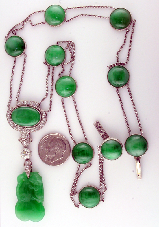 Art Deco Jadeite Necklace