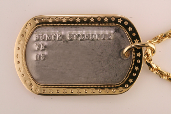 Gold Dog-Tag, reverse