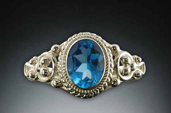 Handmade Blue Topaz Silver Ring