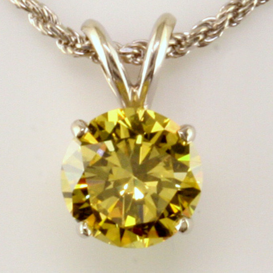 1.97 ct Irradiated Diamond, Fancy Vivid Yellow