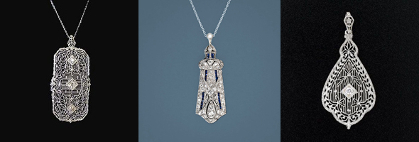 Art Deco Style Pendant- Custom Made! - Mardon Jewelers Blog