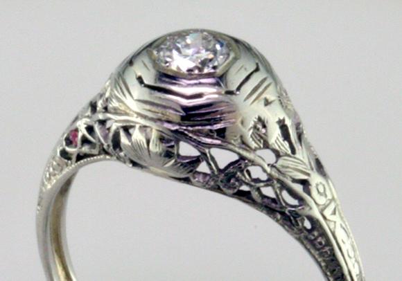 Art Nouveau Wedding Rings 63 Epic Die Struck Art Deco