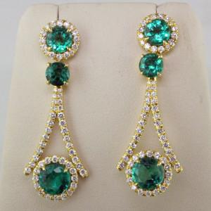 7.19 ct em earrings