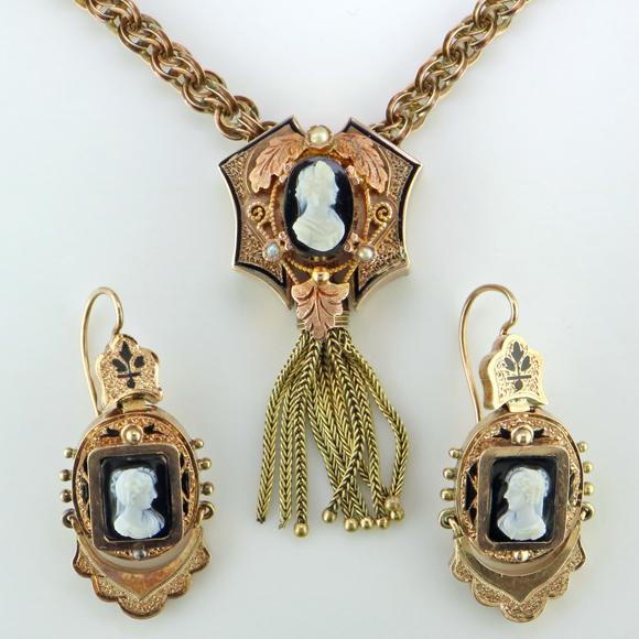 Antique Victorian Cameo Set - Mardon Jewelers Blog - Custom Jewelry