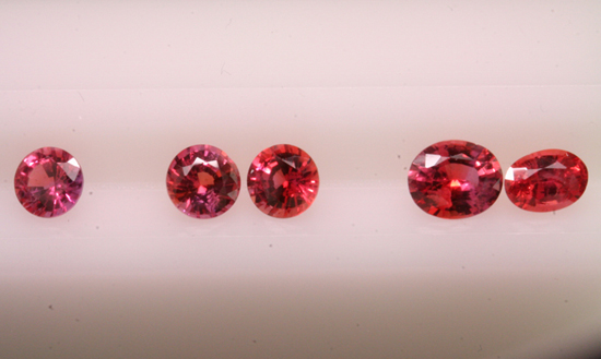 Parcel of natural color Padparadscha sapphires from India