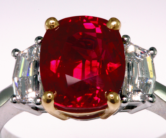 Classic 4 ct. Burma Ruby, documented to be Pigeon's Blood Red