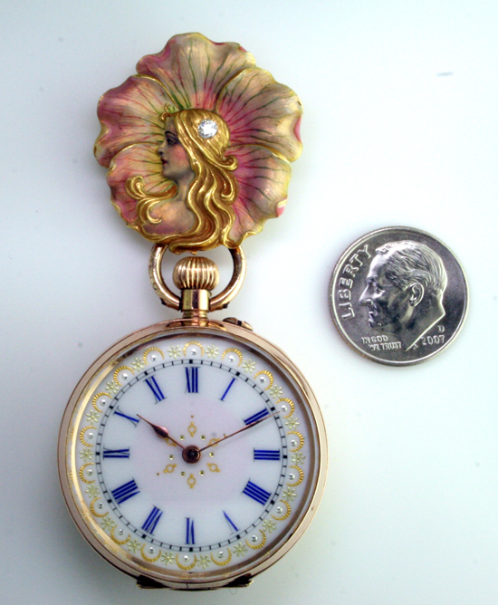 18K Nouveau Flower, 9K Ladies Watch