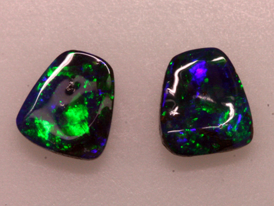 Boulder Opal Pair with Pinfire and Broad Flash