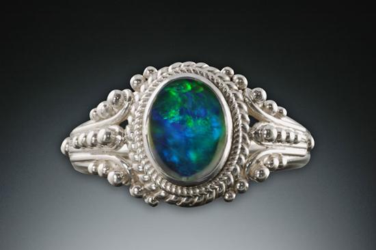 Shangri-La Sterling, opal, ball style