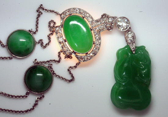Oval Jadeite with backlight