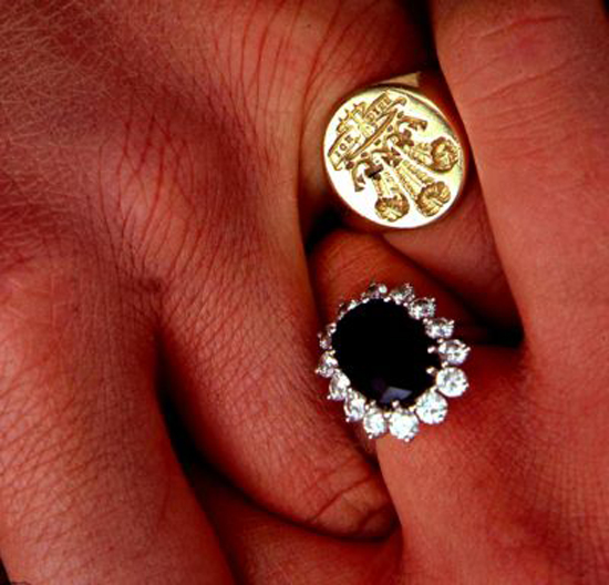 Princess Diana and Prince Charles wedding rings
