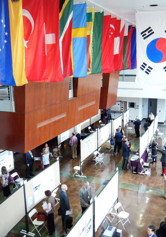 International Flags Fly at GIA Symposium