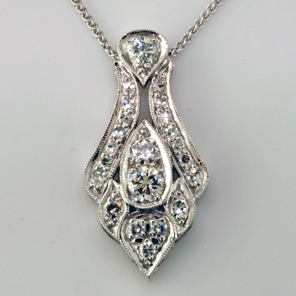 Art deco style pendant custom made mardon jewelers blog custom we aloadofball Choice Image