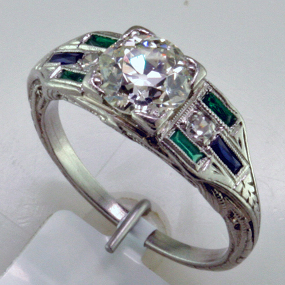 d1181a6a07e37 Platinum Ring Stars in Line-up of Vintage Engagement Rings - Mardon ...