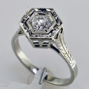 Fabricated Art Deco Ring, I-22270