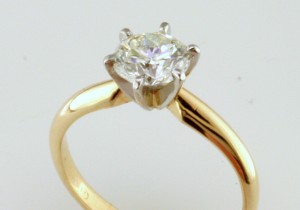 Two Tone Die Struck Solitaire, I-22560