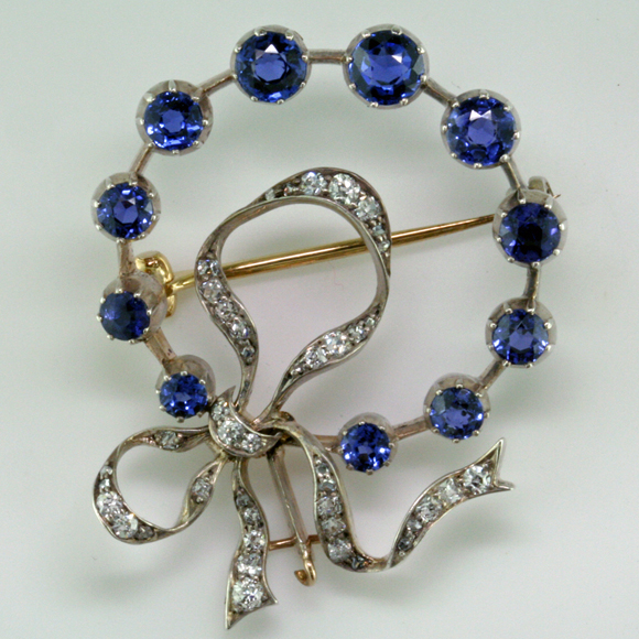 Antique Yogo Sapphire Pin Mardon Blog Mardon Jewelers Blog