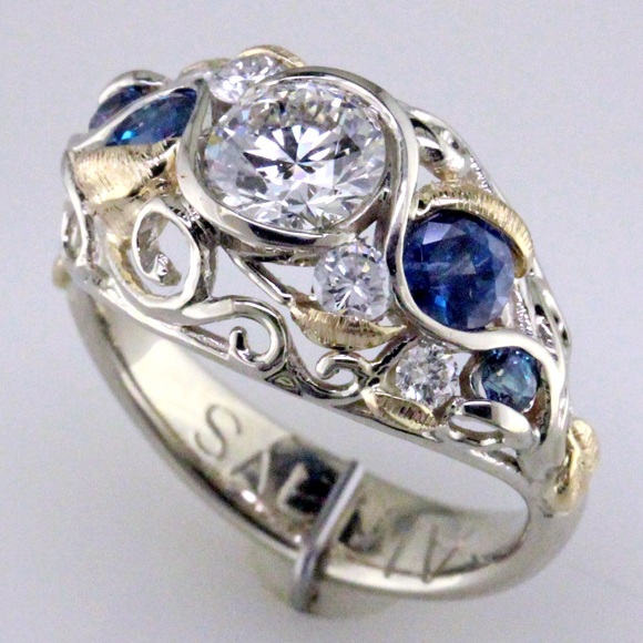 Alex Ring 3 4 Custom Natural Alexandrite Diamond Wedding