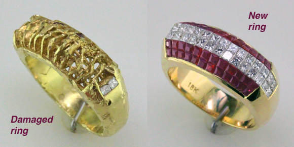 side by side ruby ring