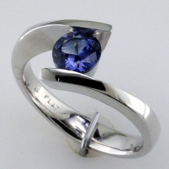 Benitoite Ring
