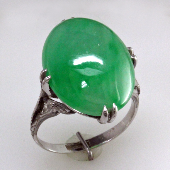 Art Deco Jadeite ring