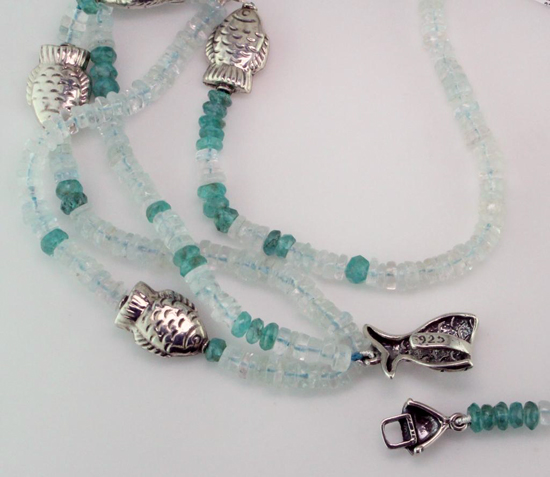SS Aqua + Apetite Fish Necklace