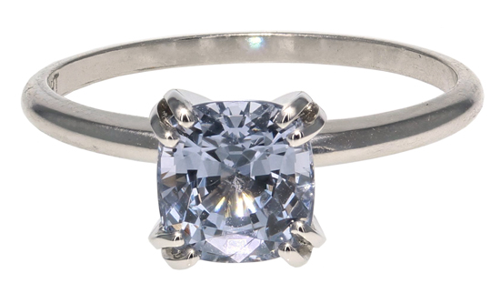 Blue-Grey Spinel Ring