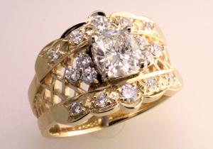 Diamond Cigar Band Ring Mardon Jewelers