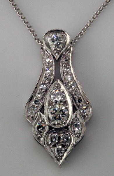 Custom diamond pendant mardon jewelers custom diamond pendant aloadofball Images