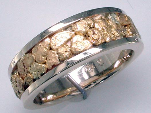 Custom NuggetStyle Mens Band Mardon Jewelers