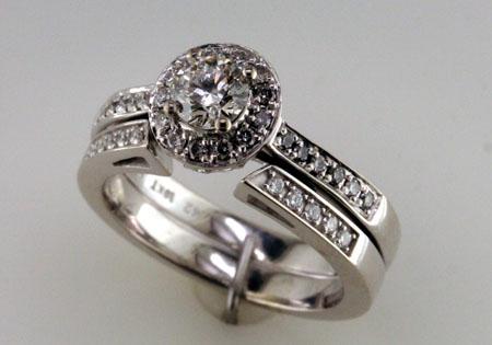 Custom shadow bands for wedding