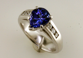 Custom Tanzanite & Diamond Ring