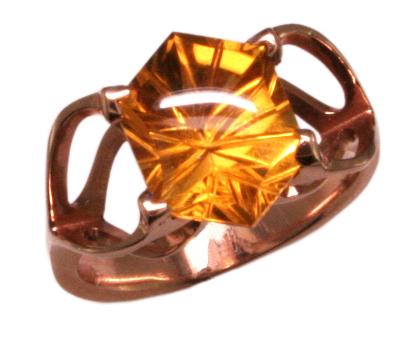 14k Fantasy Cut Citrine Ring Mardon Jewelers