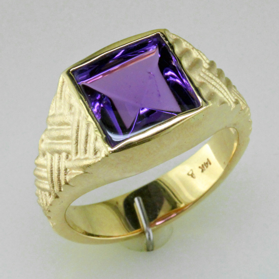 Custom Gents Amethyst Ring