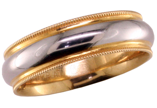 Platinum 18ky Milgrain Mens Band Mardon Jewelers