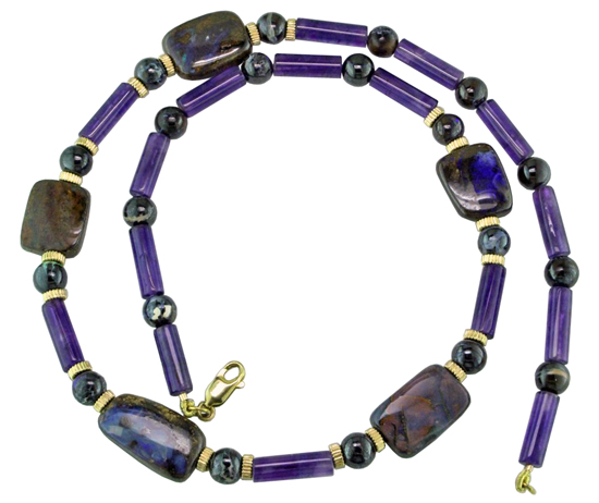 Opal & Amethyst Bead Necklace