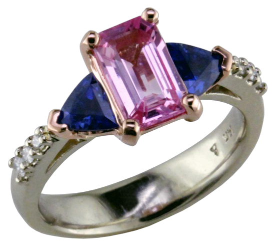 Pink & Blue Sapphire Ring