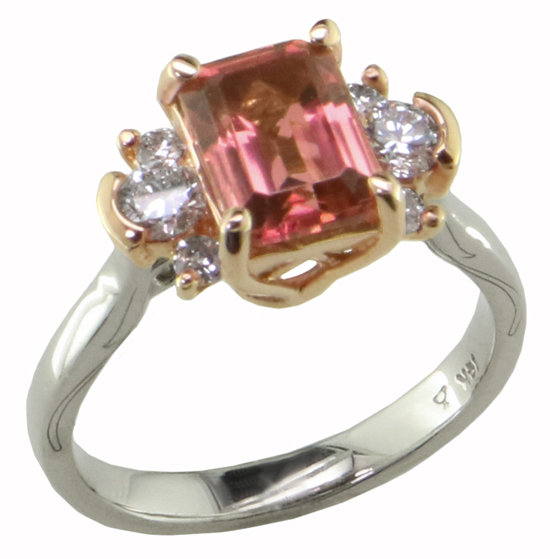 Tourmaline + Diamond Ring