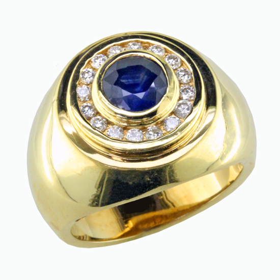 Gents Sapphire and Diamond Ring