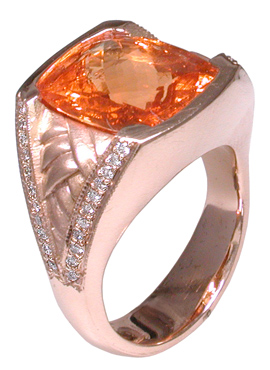 14k Spessartine Garnet Ring Mardon Jewelers