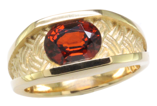 14ky Spessartite Garnet Ring