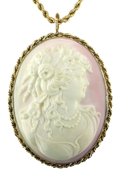 Vintage cameo pendant mardon jewelers vintage cameo pendant mozeypictures Choice Image