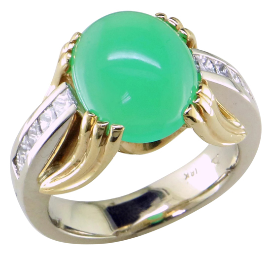 Vintage Chrysoprase Ring