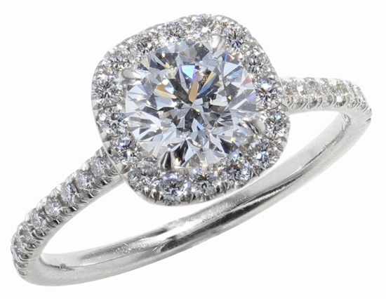 Vintage Diamond Halo Ring