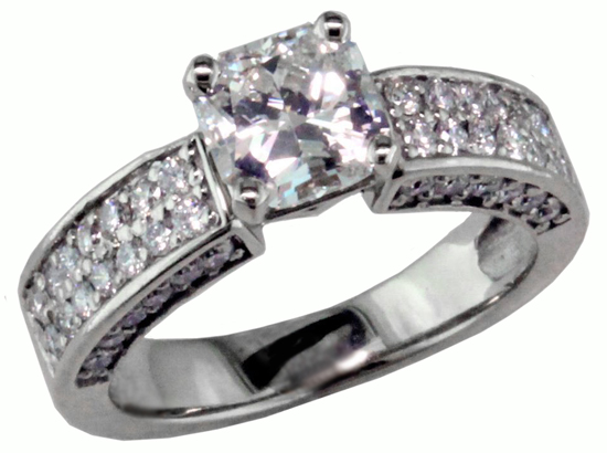 14kw Vintage Diamond Ring