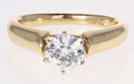 1.00ct D-IF Diamond Ring