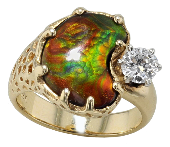 Vintage Fire Agate Ring